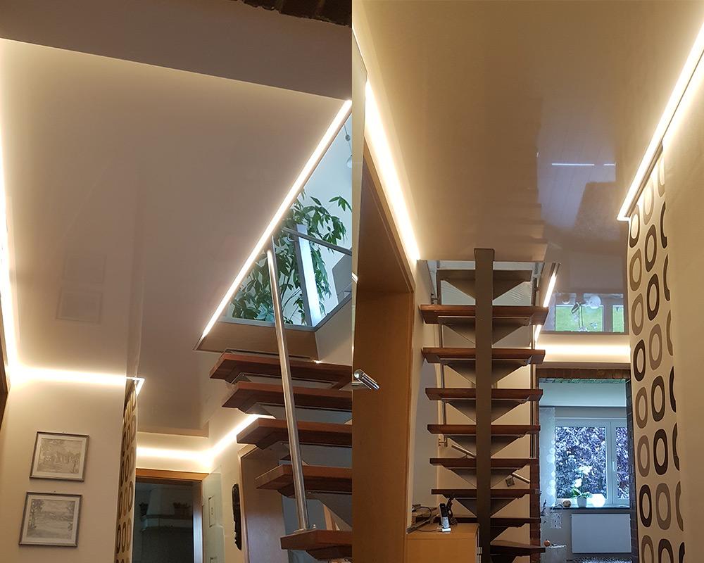 Spanndecken werten jeden Raum auf und schaffen ein besonders wohnliches Ambiente